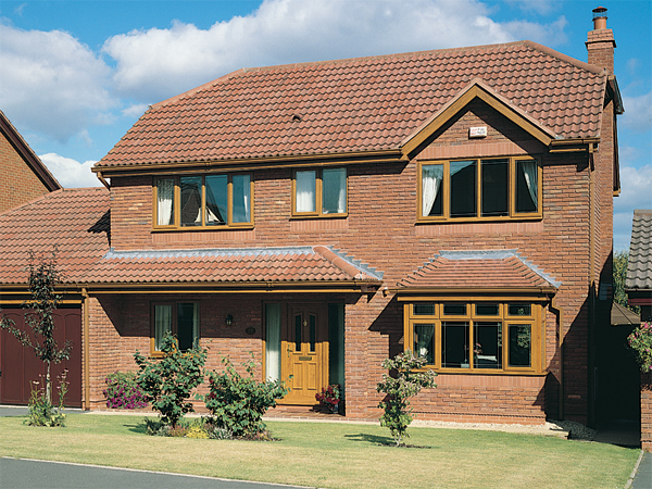 casement windows two storey home