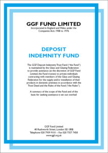 GGF deposit indemnity fund consumer protection
