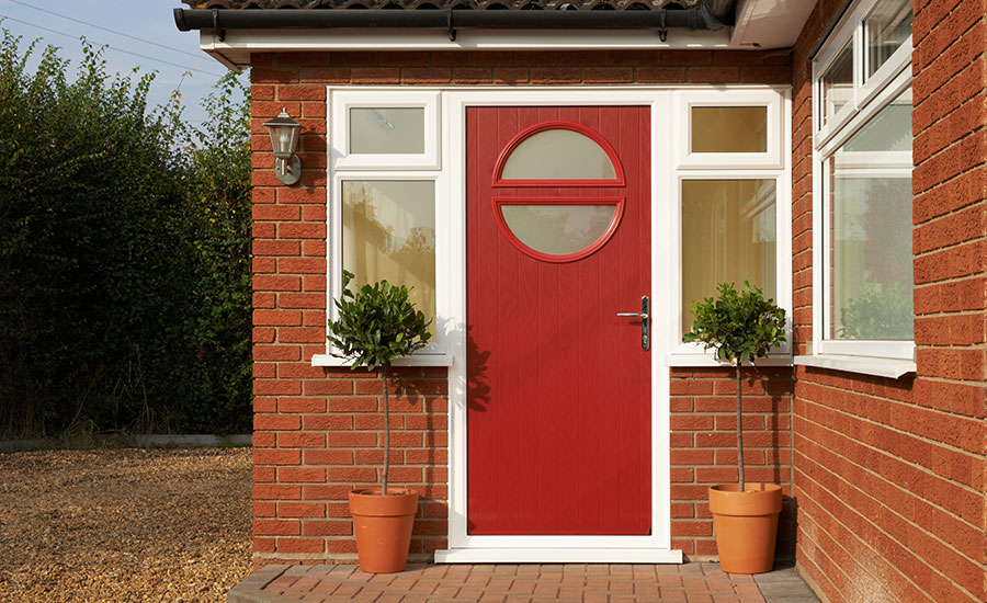 Seville Front Door In Ruby Red By Anglian Home Improvements Myglazing Com