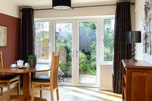 Dining room with french doors