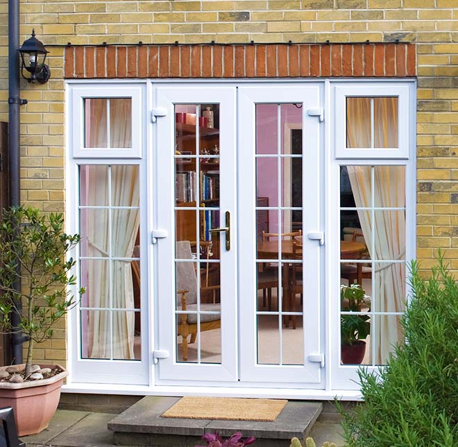 French doors home glazing inspiration for Double glazed upvc patio doors