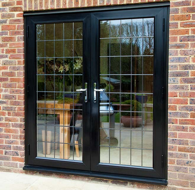 French doors home glazing inspiration for Aluminum french doors