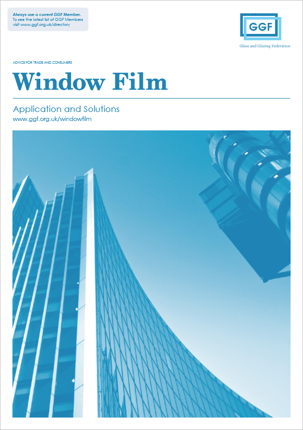 ggf window film brochure with picture of commercial building