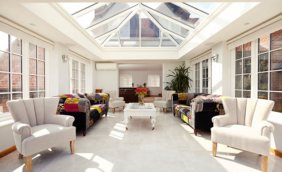 interior orangery carpet furniture roof lantern