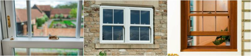 sash windows collage