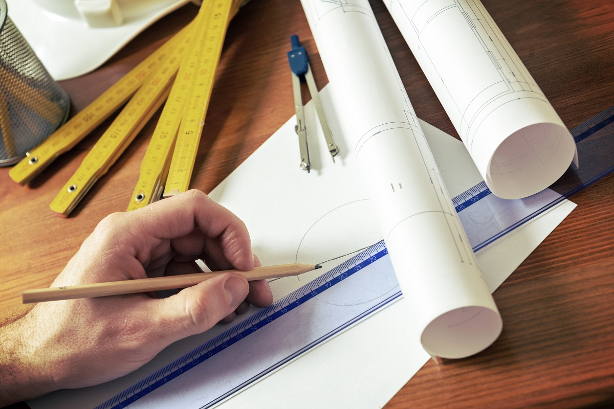 measurement tools and house plans