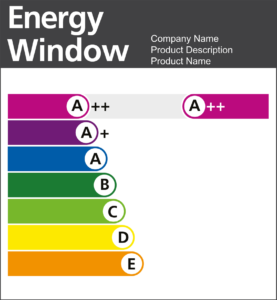 bfrc window energy rating label rainbow letter bands